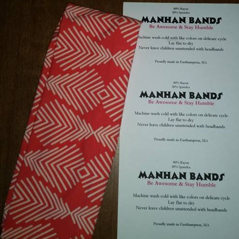 Manhan Bands are - A fashionable way to keep hair out of your face and sweat out of your eyesOne piece of knit fabric, stretchy for one-size-fits-mostMachine washableAvailable for custom ordering