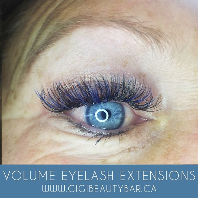 Lashes can be FUN! Look at this lovely mix of blue 💙 Eyelash extensions draw more attention to your eyes than mascara alone, &  are 24/7 meaning you don't need to re apply in the morning! ______________ You can now BOOK your appointments ONLINE! Check it out along with our other services we offer such as a waxing! http://gigis-beauty-bar.genbook.com  Questions? You may call/txt 📞705-341-9089  Visit www.gigibeautybar.ca for our list of beauty services✨ 📍Located @ 232 Main St Bobcaygeon, ON _______________ #eyelashes #extensions #eyelashextension #bobcaygeon #kawarthalakes #peterboroughlashes #ontariolashes #lashes #salon #beauty #beautybar #lashme #oshawalashes #lashlift #eyelashperm #lashperm #beautybar #kawarthapeeps #eyelashartist #lashartist #lashtech #oshawalashes #volumelashextensions #volumelash #lashliftandtint #browwax #browtint #browtinting #lashlifting #lashgoals
