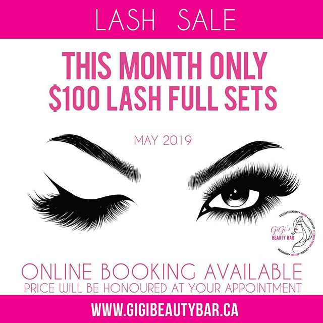 For the month of May we are offering $100 for a full set of lashes!! Book and come in for your appointment in May to get a full set of lashes for $100. Price will be adjusted at your appointment ☺️💫Come for your appointment to our NEW location, to 80 Bolton St in downtown Bobcaygeon, ON 💕✨ ______________ You may BOOK your appointments ONLINE! Check it out along with our other services we offer such as a waxing! http://gigis-beauty-bar.genbook.com  Questions? You may call/txt 📞705-341-9089  Visit www.gigibeautybar.ca for our list of beauty services✨ 📍Located @ 80 Bolton St Bobcaygeon, ON _______________ #eyelashextension #bobcaygeon #kawarthalakes #peterboroughlashes #ontariolashes #lashes #salon #beauty #beautybar #lashme #oshawalashes #lashlift #eyelashperm #lashperm #beautybar #kawarthapeeps #eyelashartist #lashartist #lashtech #oshawalashes #volumelashextensions #volumelash #lashliftandtint #browwax #browtint #browtinting #lashlifting #lashgoals #lashbox #lashboxcanada