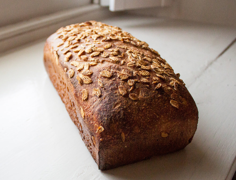 Kamut whole wheat - A whole wheat pan-loaf made with fresh milled Kamut (Khorasan) grain. The long fermentation brings out the natural sweetness. This is the ultimate PB+J bread.