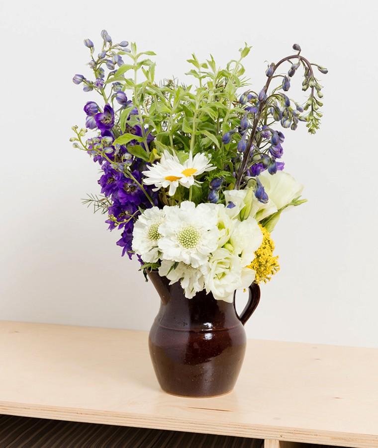 D'ette Nogle,  Flowers on a Table , 2016.