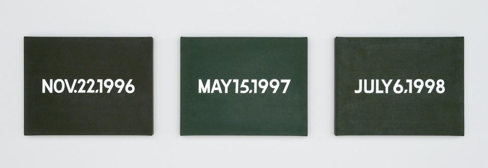 On Kawara , Nov. 22, 1996; May 15, 1997; July 6, 1998 , 1996-1998