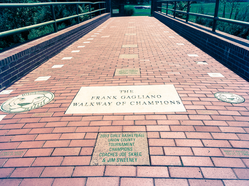 Coach Gagliano Walkway of Champions - The entranceway to Chakey Field is a permanent testament to and remembrance of the alumni, Brothers, faculty, coaches and loved ones of the Roselle Catholic family, who have helped pave the way for Roselle Catholic's long and rich history of athletic excellence.
