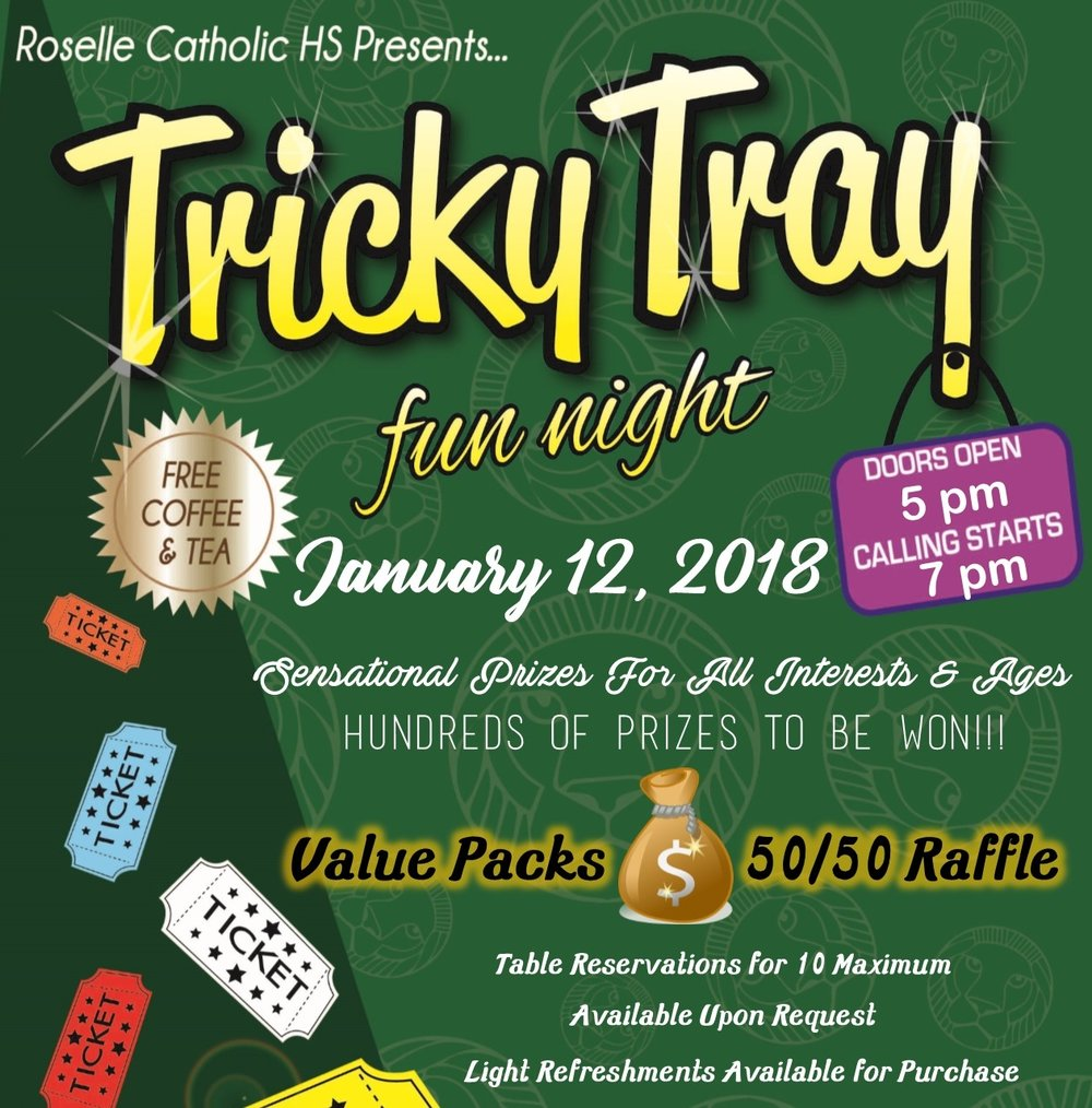 You're Invited! - Sensational prizes for all interests and ages!Doors open 5pm. Must be 18 or older to enter.For tickets, call Elsa 908-591-8479.Tickets $12/adv or $15/door.