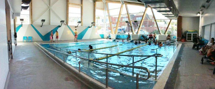 A wide angle photo of Keith Spry Pool.