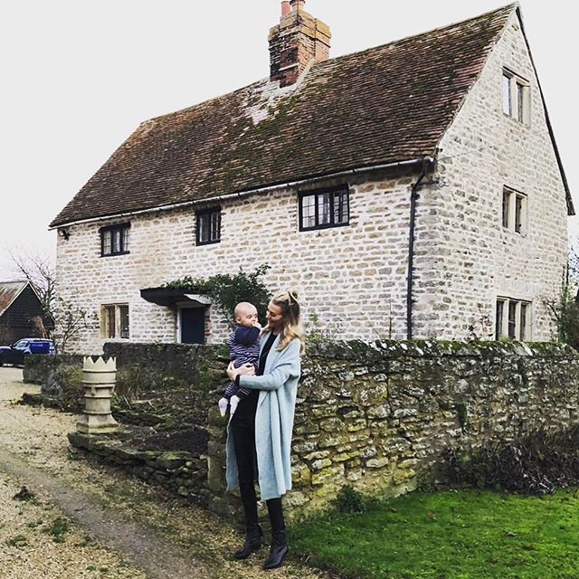 Today I took my little man to visit the place I was born. A little farmhouse just outside of Oxford was where I spent my first years. The quaint town of Little Milton holds many special memories for my family, and it was a privilege to share them with the next generation. Happy New Year all xx 😘