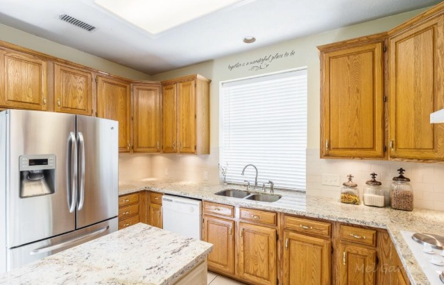 This kitchen received a complete overhaul. Wait until you see what it looks like now!!