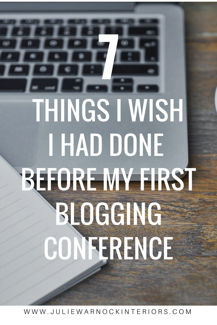 Are you heading to your first blogging conference? Here are 7 things I wish I would have done before attending my first blogging conference!