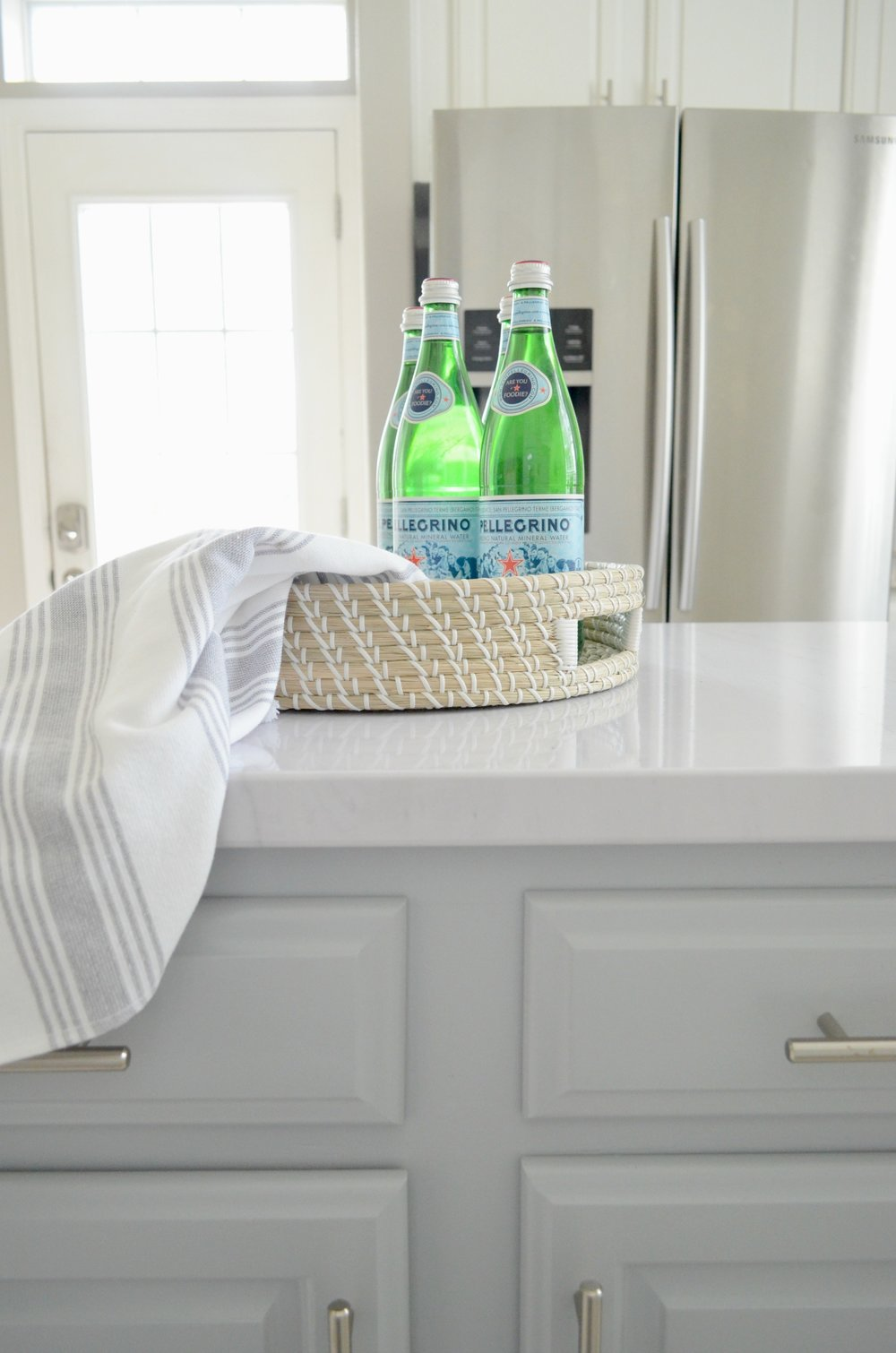 DIY Faux Marble Kitchen Counters for under $50 by Julie Warnock Interiors.