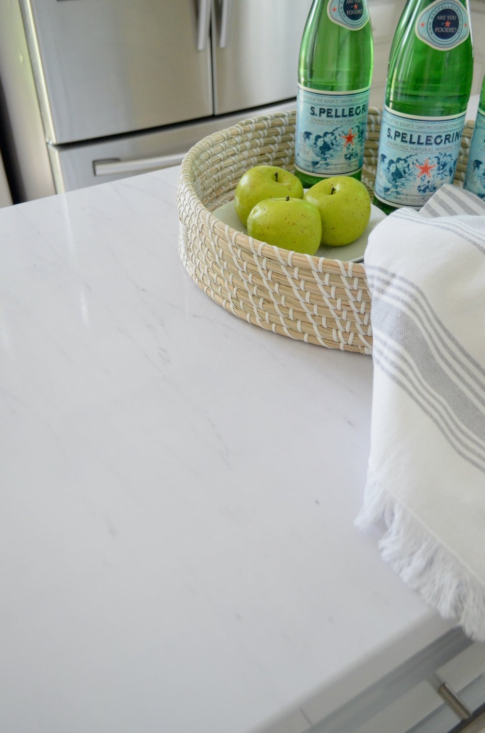 Peel and stick faux marble counters for under $50!