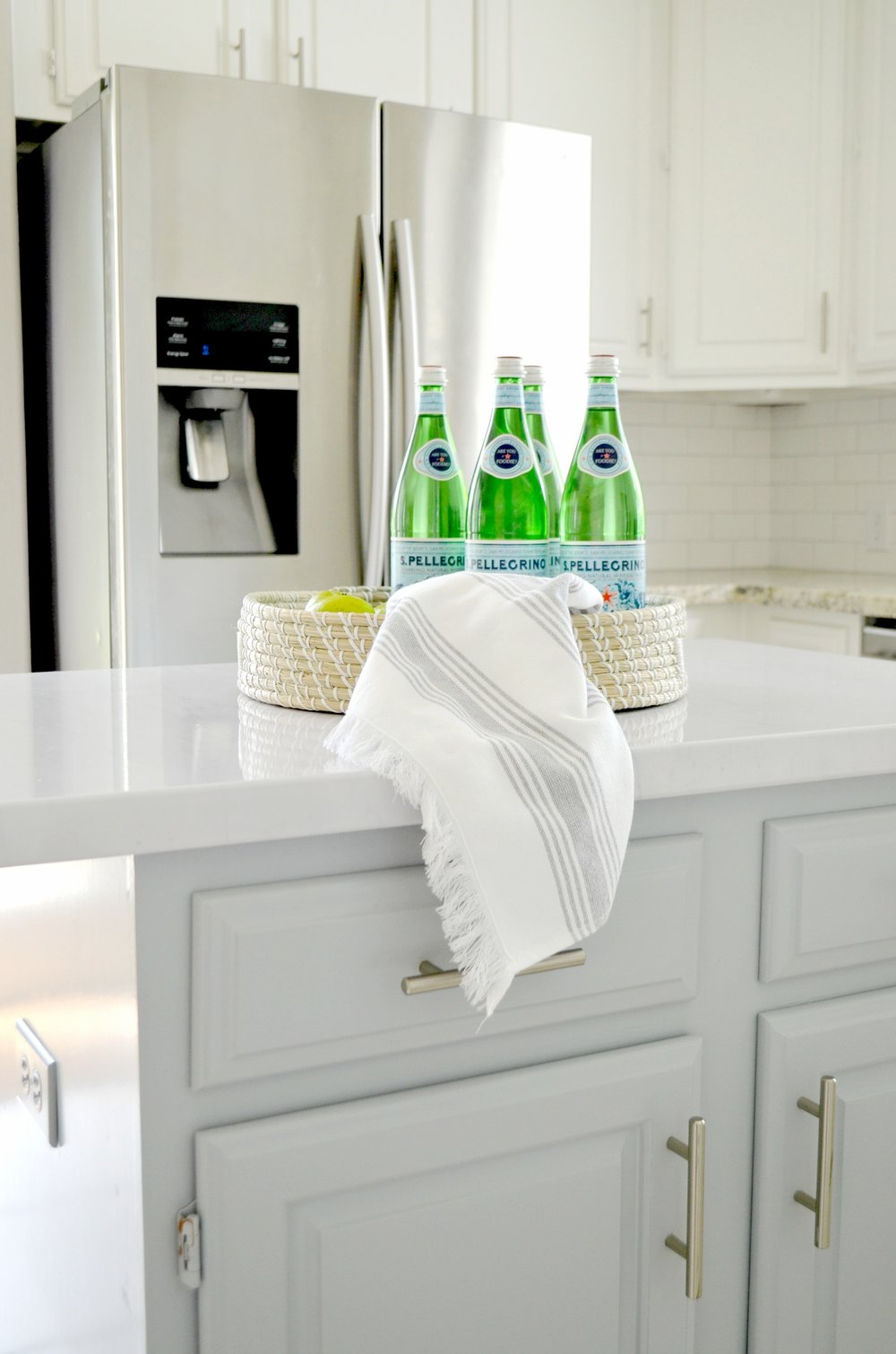 DIY Faux Marble Counters for under $50 by Julie Warnock Interiors.