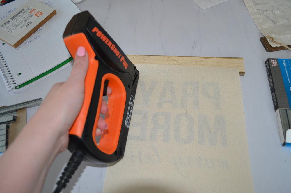 DIY Sign Staple Gun