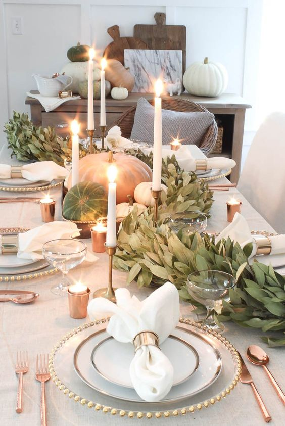 Neutral Fall Table Via Rooms for Rent