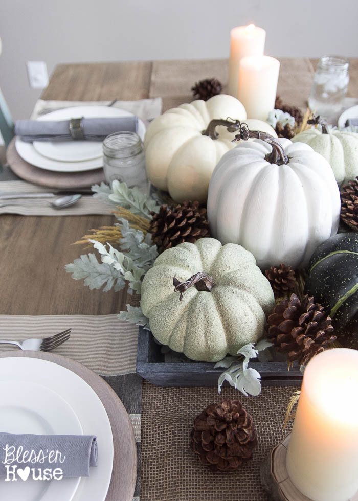 Neutral Fall Table via Bless'er House
