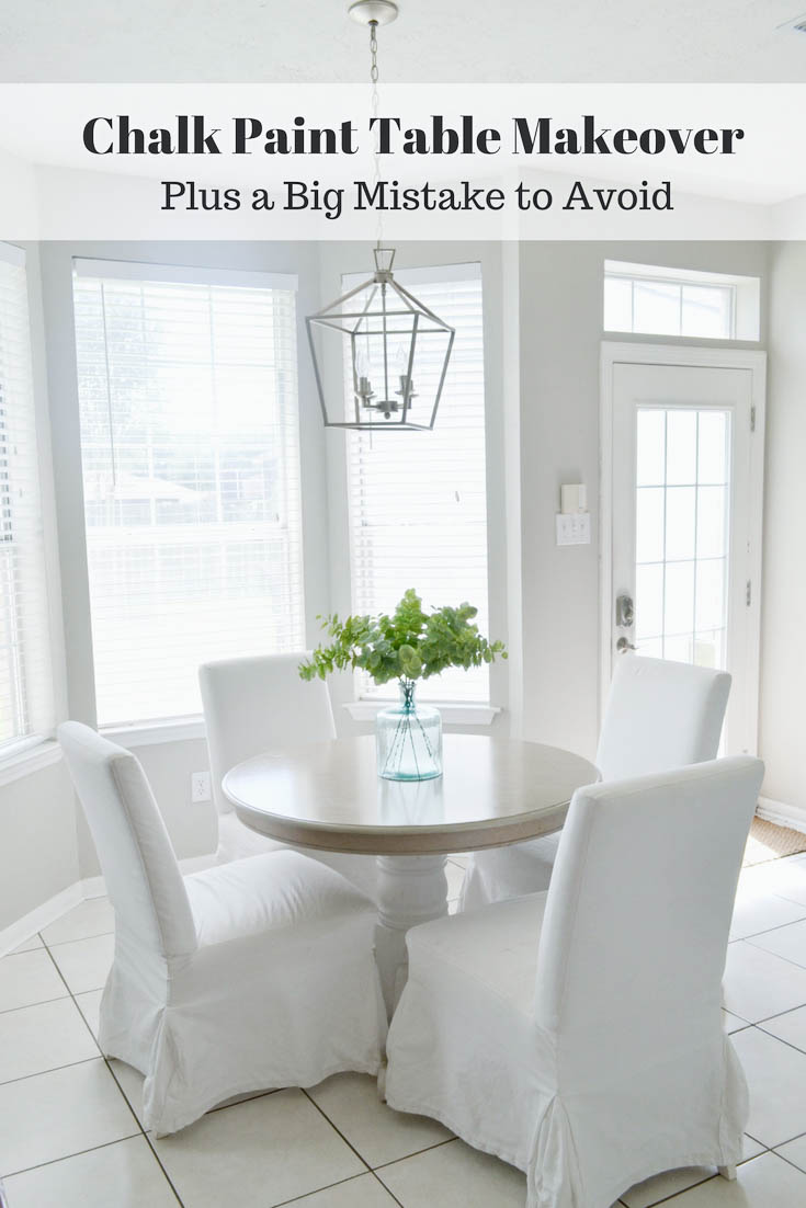 Dining Table Makeover with Chalk Paint and Wood Stain by Julie Warnock Interiors
