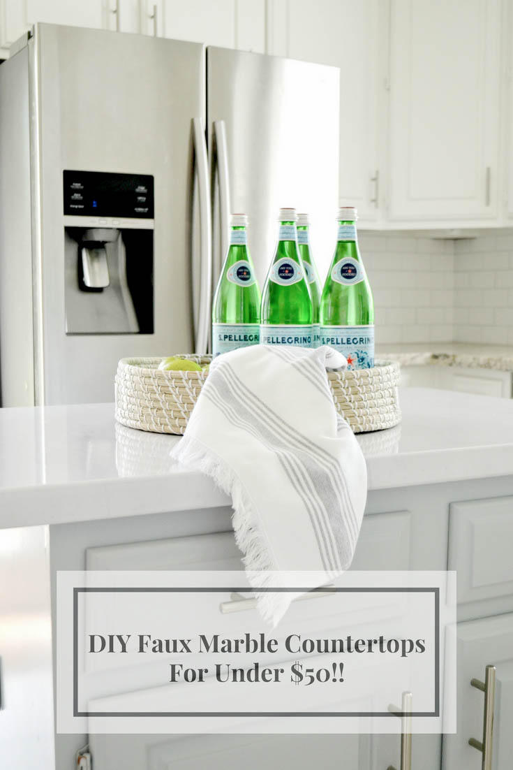 The Easiest Faux Marble Counters For Under $50 And With No Painting! Julie  Warnock Interiors