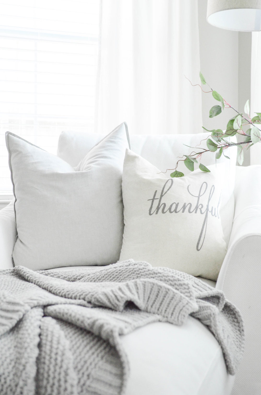 Gorgeous Fall Pillow Combination by Julie Warnock Interiors.