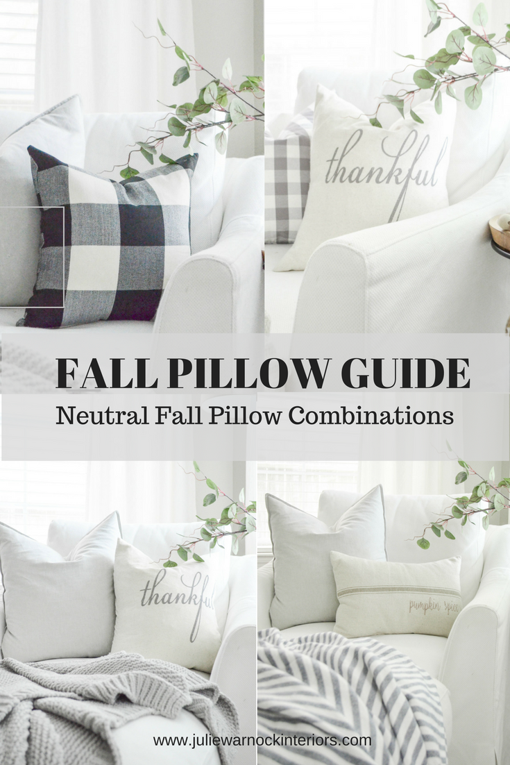 Neutral Fall Pillow Guide by Julie Warnock Interiors
