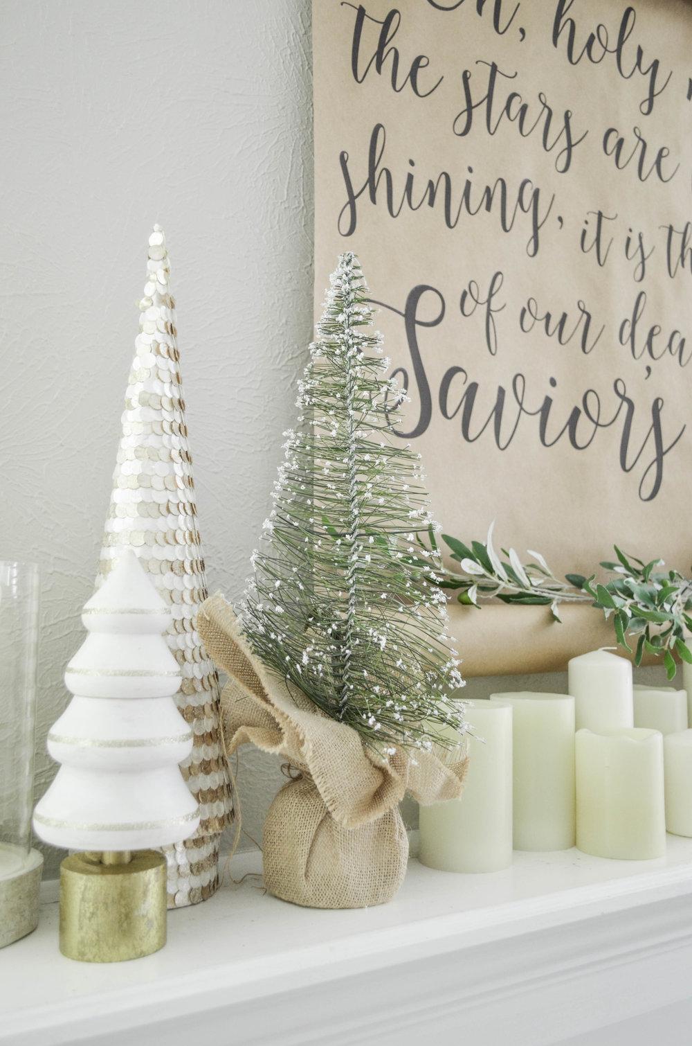 Neutral Christmas Living Room Tour