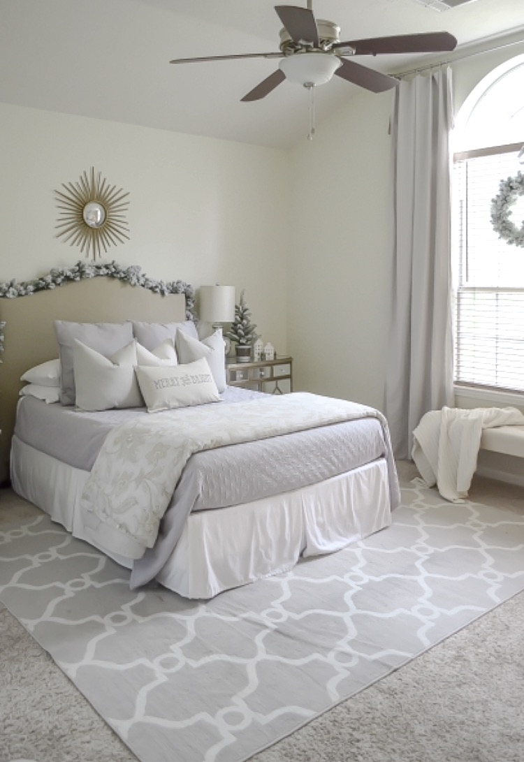 Neutral Christmas Bedroom Tour