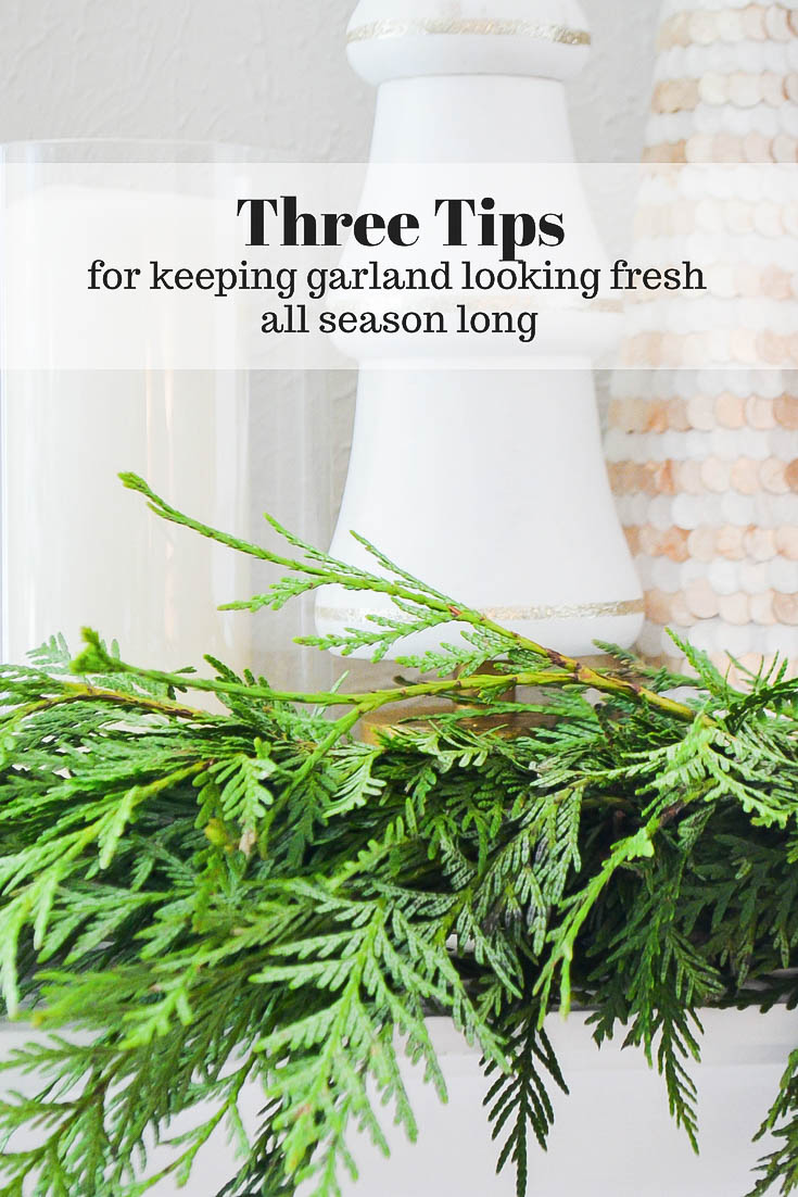Three tips for keeping live garland fresh