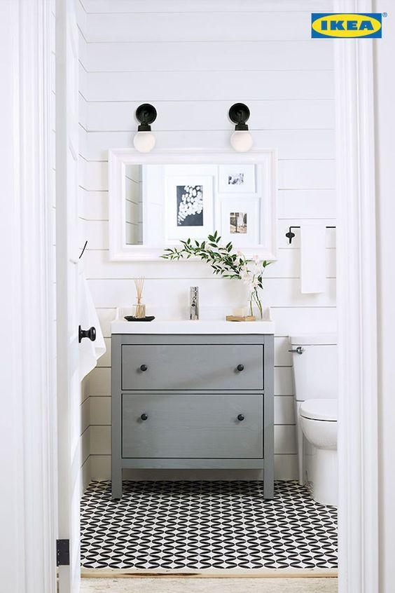 Ikea Modern Farmhouse Bathroom