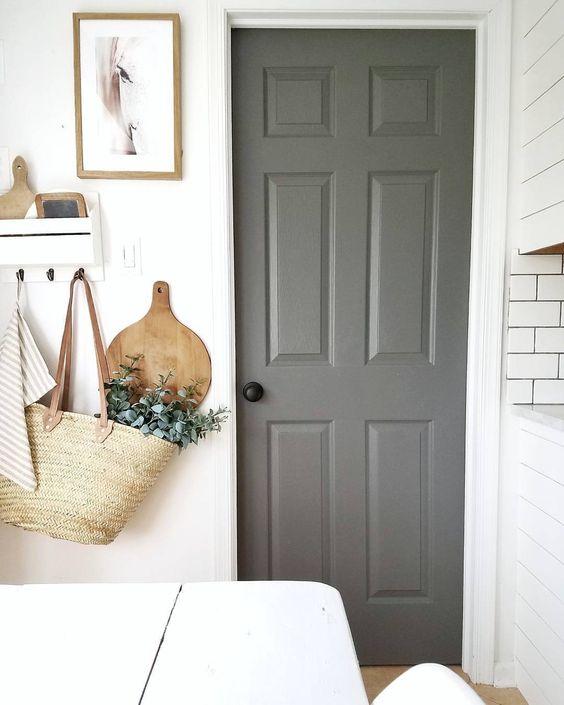 Kendall Charcoal Door via Cynthia Harper