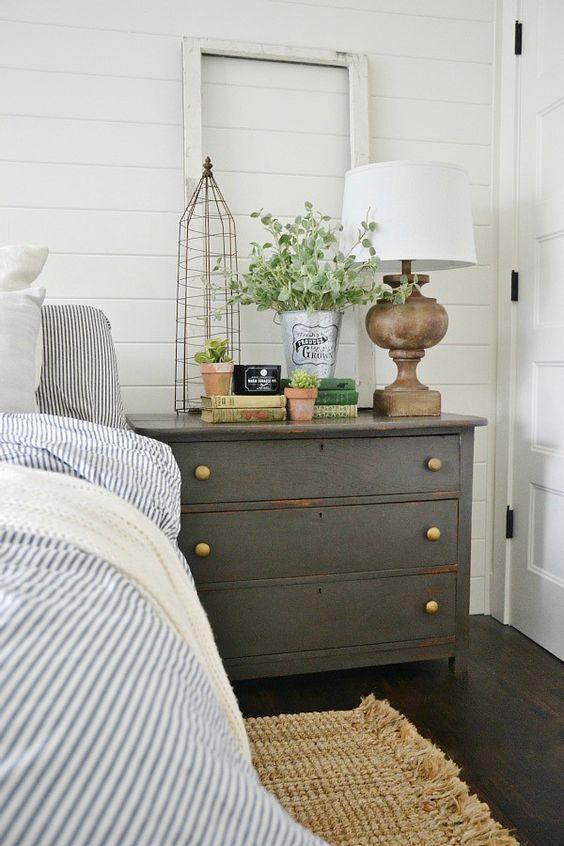 Shiplap Bedroom via Liz Marie Blog