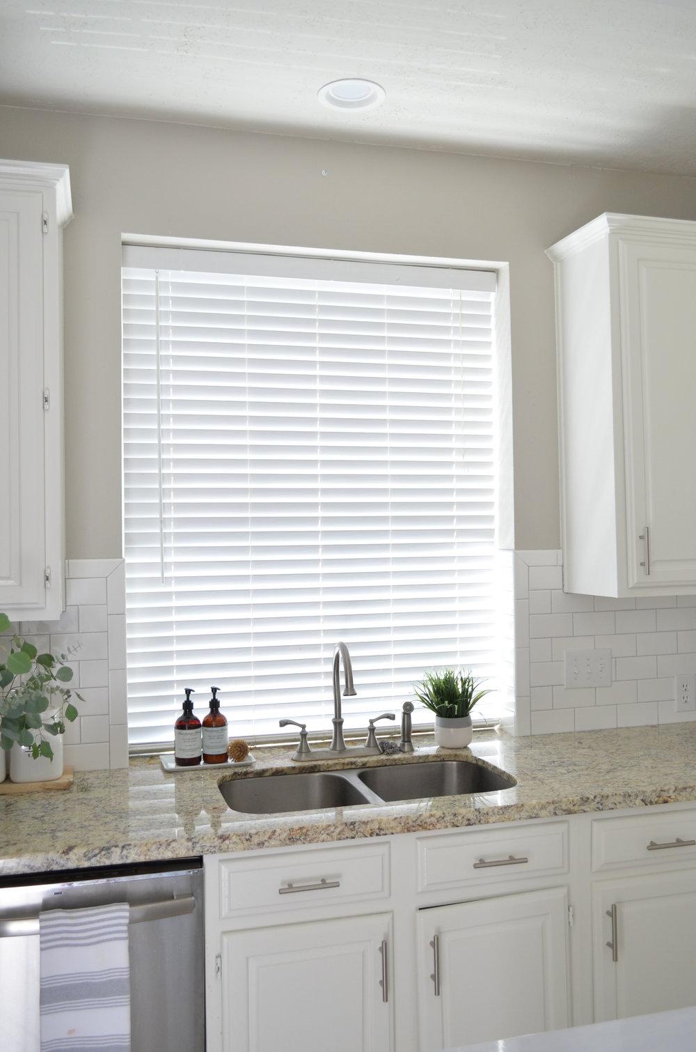 Kitchen Window Update: New Woven Shades
