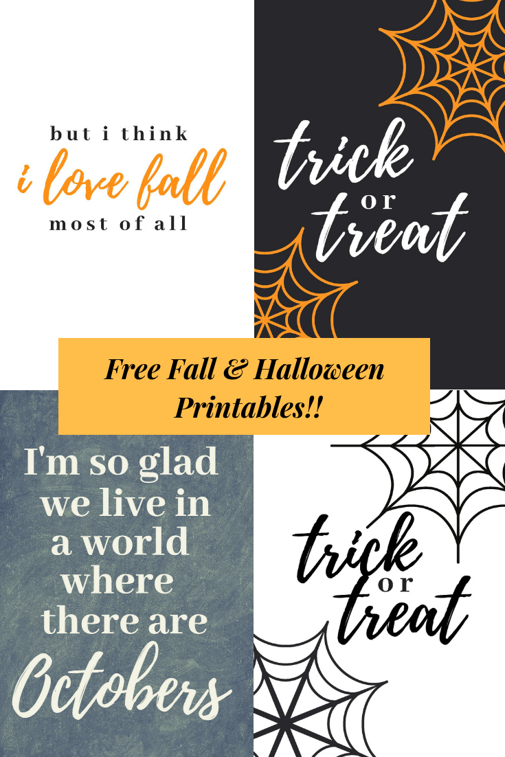 Free Fall & Halloween Printables