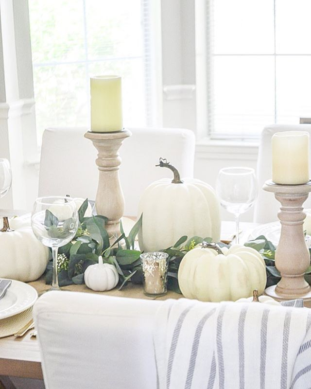 Exciting things are happening over on the blog today. I've teamed up with 10 other bloggers to show you our homes all decked out for fall and give you tons of fall decorating inspiration. I've tagged them all here, too! You won't want to miss it! http://liketk.it/2xENS #liketkit @liketoknow.it Shop your screenshot of this pic with the LIKEtoKNOW.it app••••••••••••••••••••••••••••••••••••• #fallfarmhouse #falldecor #falldecorating #neutralfalldecor #falltablescape #fallingfortablescapes #fallingforyoudecor #modernfarmhouse #neutralfarmhouse #fallhomedecor #farmhouseinspired #fixerupperstyle #whitepumpkins #falldecoratingideas #fallfarmhousedecor #modernfarmhousemonday #modernfarmhouse