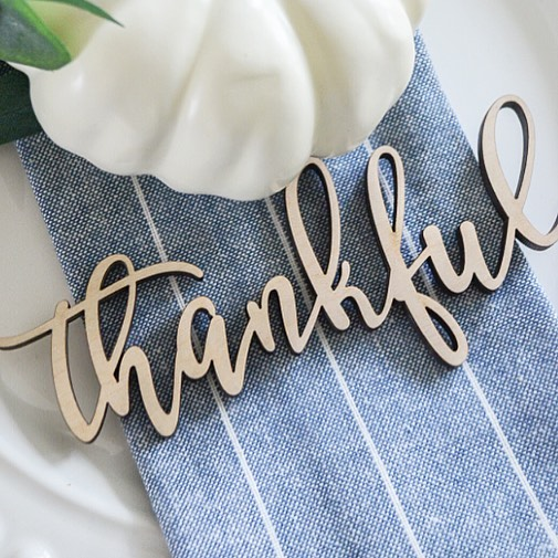 You guys have been loving these wooden cut outs I posted about a few weeks ago! Thanksgiving is coming, and I'm not sure of her turn around time, so get your orders in now if you want these for your table!! You can customize these and choose any word you want—so you can pick the names of your actual guests, too! And they are only $2/each!! Get details by heading to my shop page (link in my profile!) http://liketk.it/2xWHh #liketkit @liketoknow.it Or, follow me on the LIKEtoKNOW.it app to get the product details for this look and others.