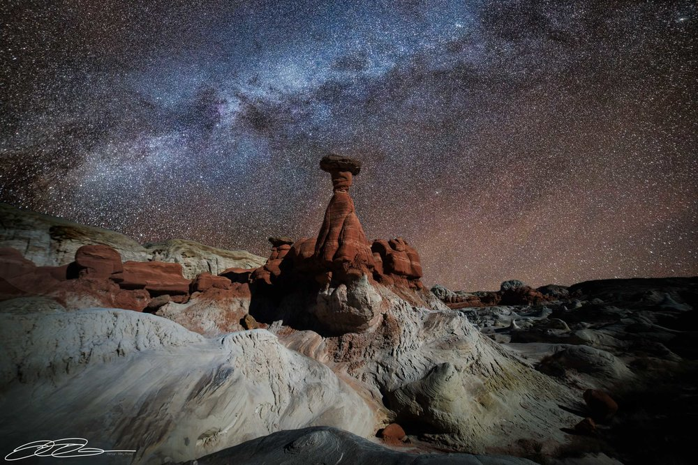 Astrophotography over the deserts of Nevada