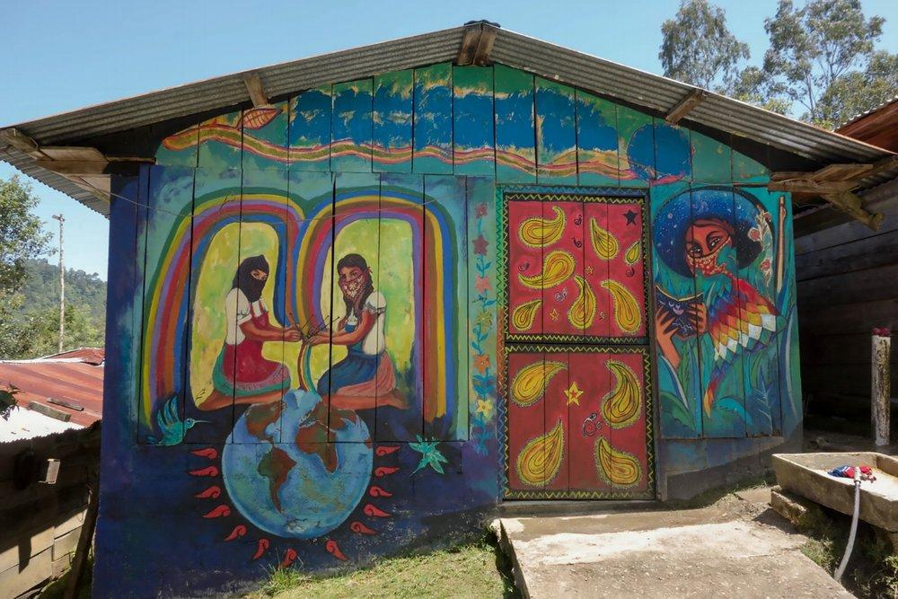 Credit,Lorie Novak, www.lorienovak.com , 2013 Oventic Murals, from   Dancing with the Zapatistas