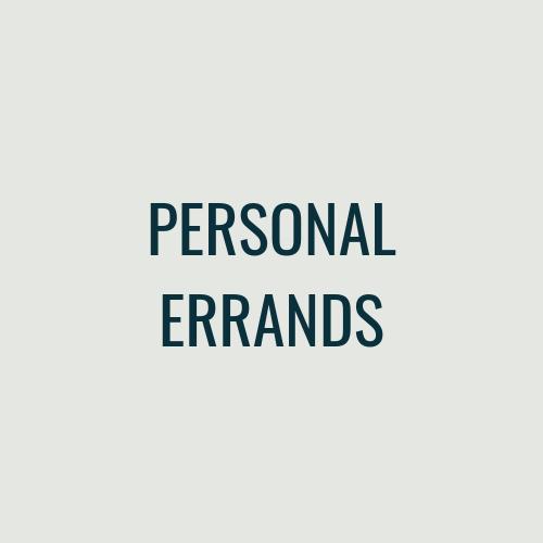 PERSONAL ERRANDS