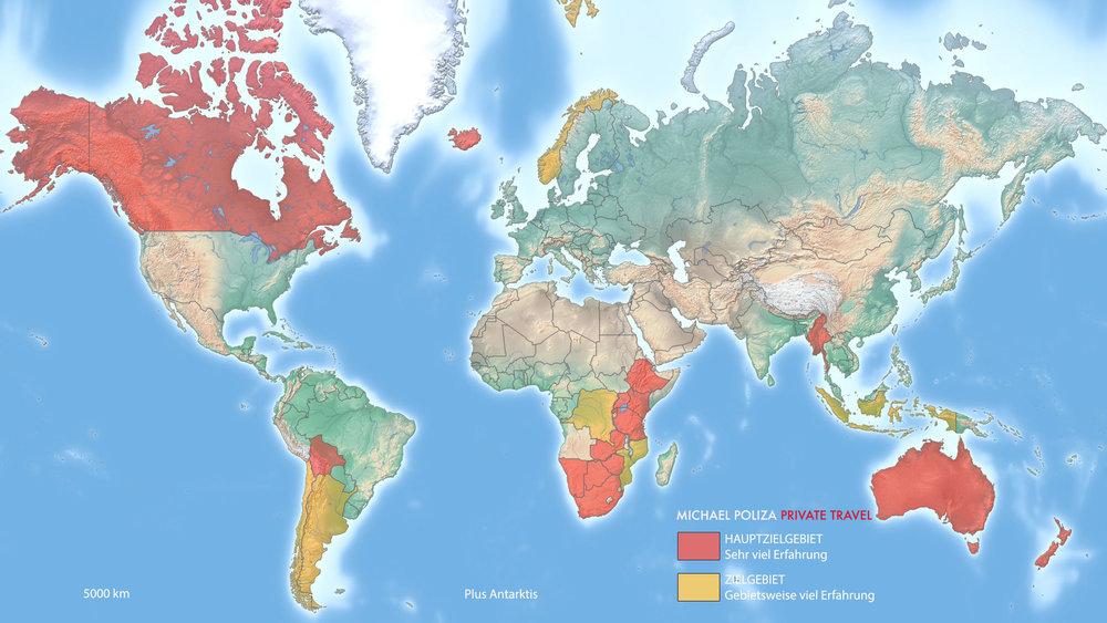 Auf der Weltkarte können Sie sehen, in welchen Ländern unsere Expertise besonders groß ist.