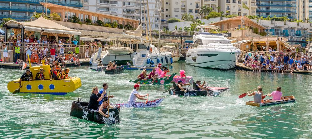 Cardboard Boat Race, Ocean Village, Gibraltar