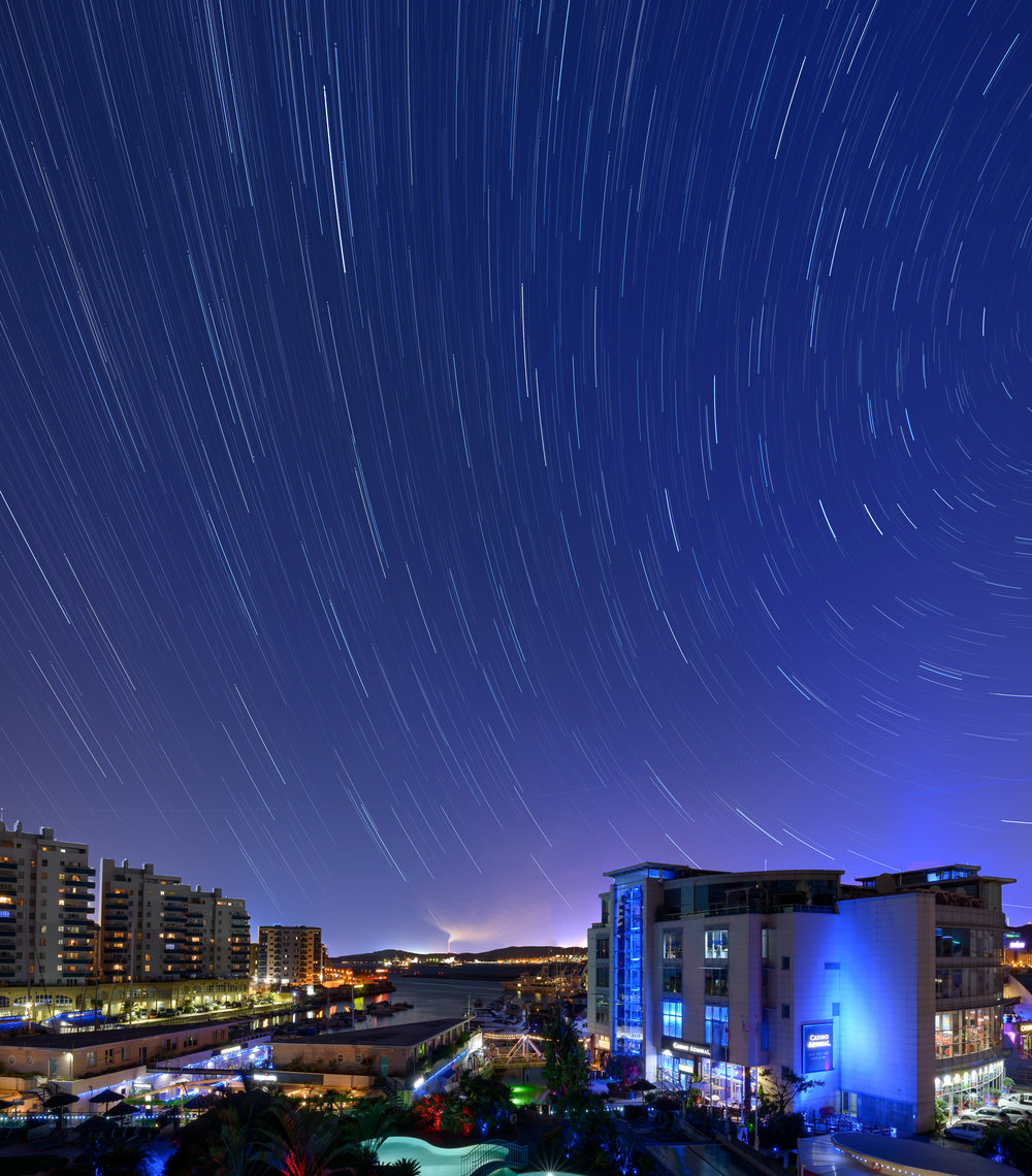 Ocean Village Star Trails