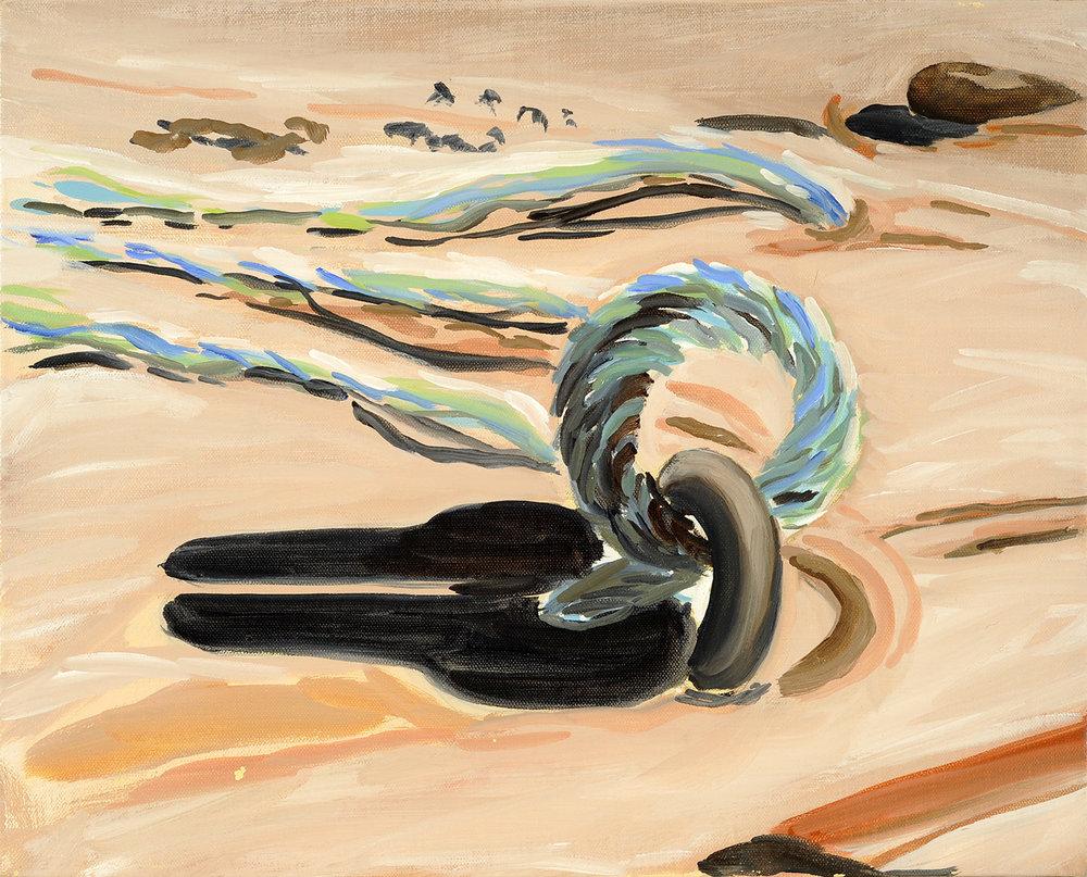 Cordage et sable, 2006