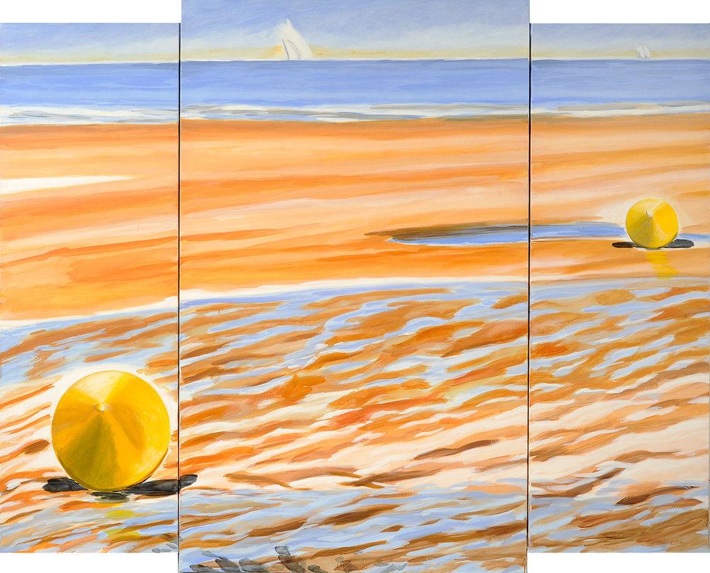 Deux bouées, le proche et l'horizon, 2006
