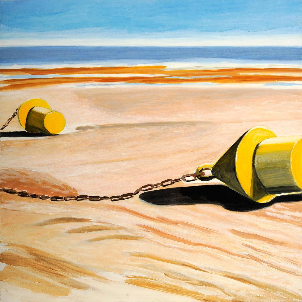 Deux bouées sur le sable, 2006