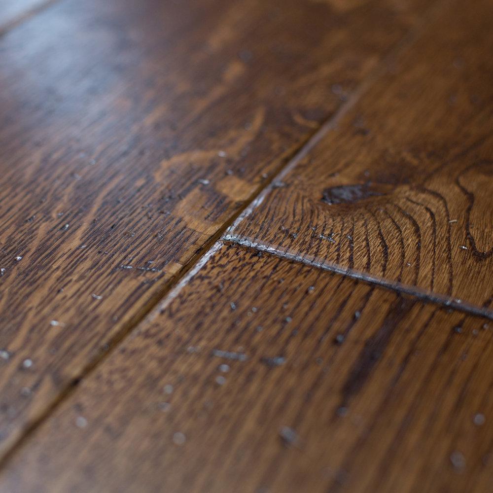 Aged oak floors