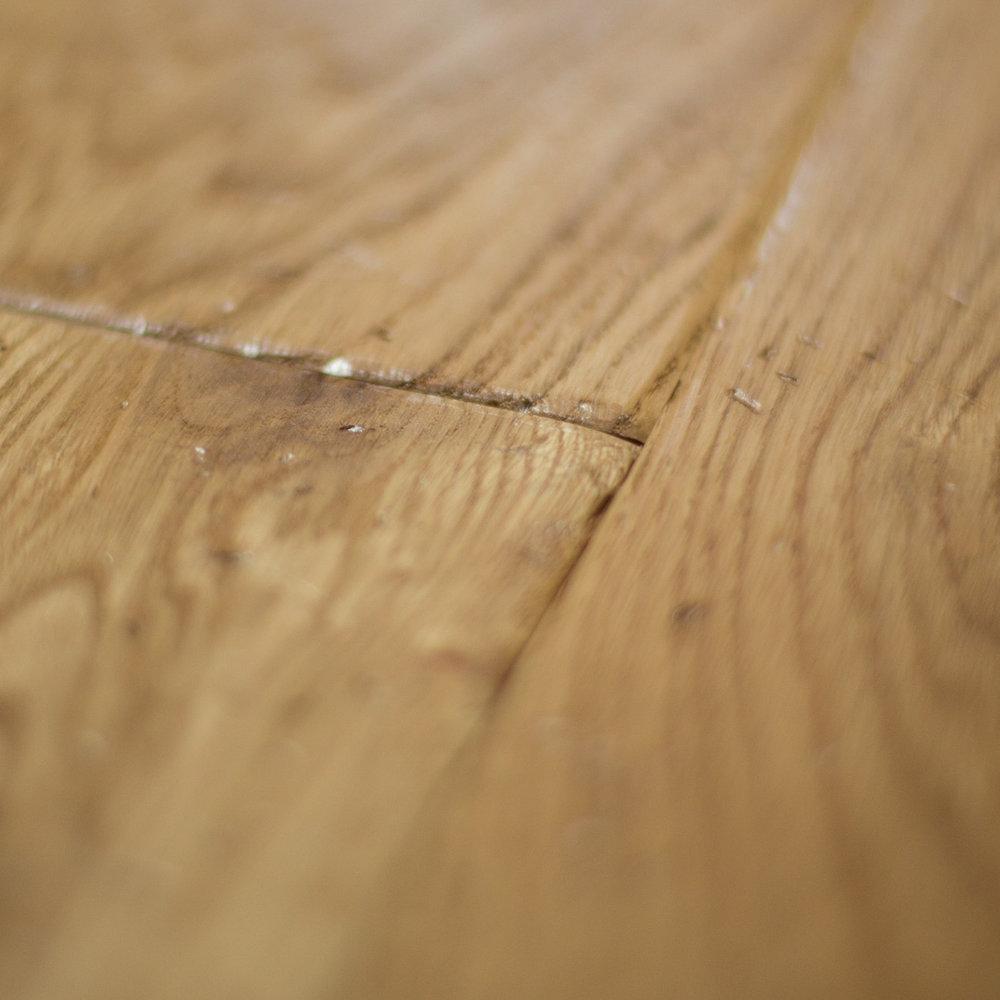 Hard oak flooring