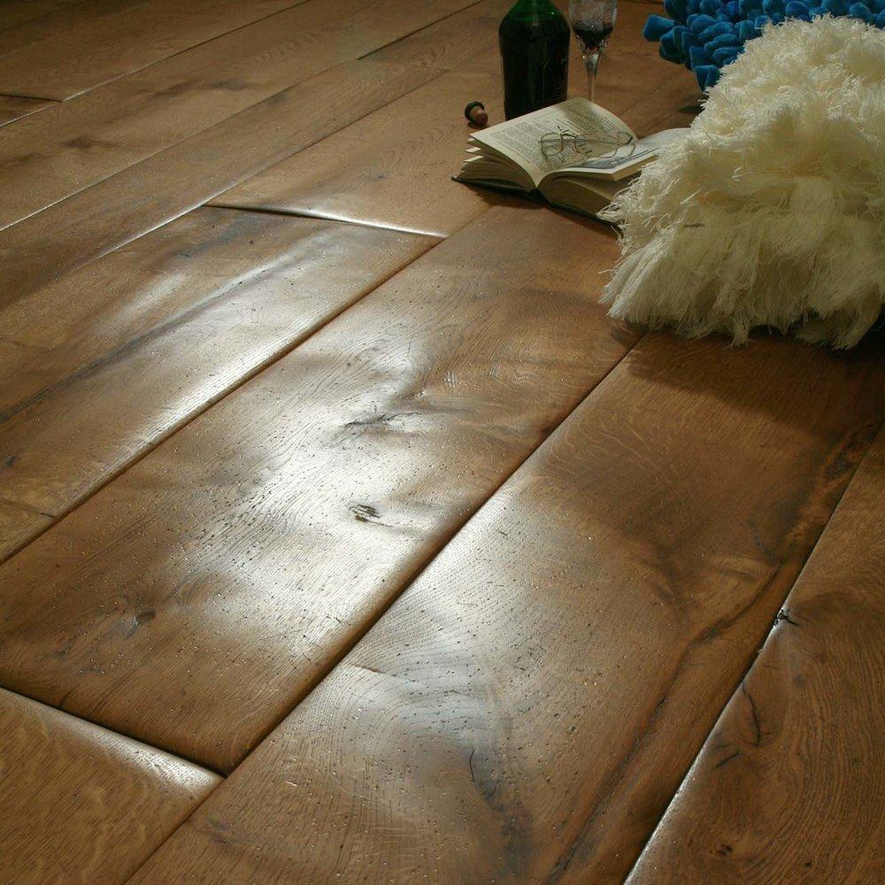 Aged wood floor