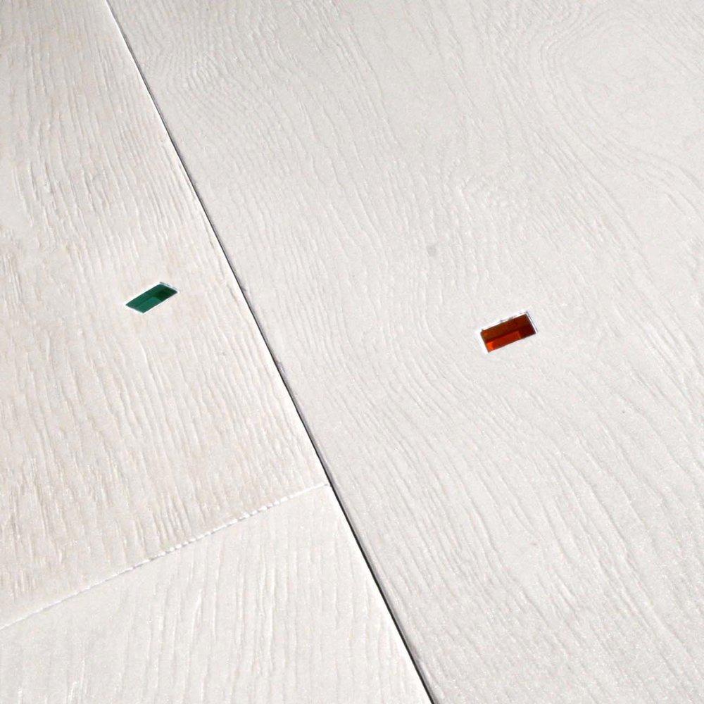 White oak floorboards