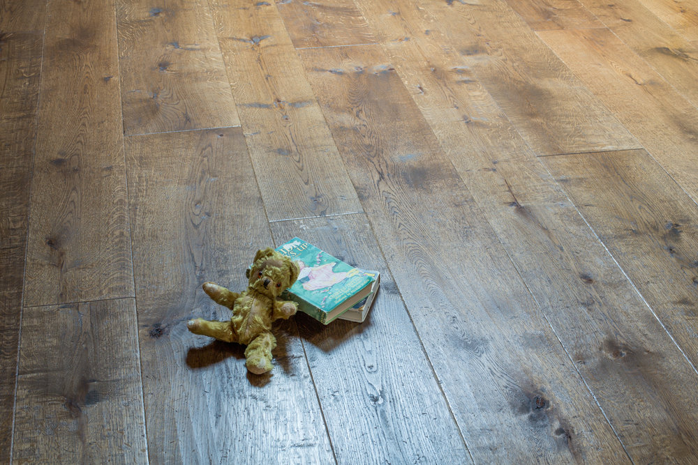 Handcrafted old oak flooring