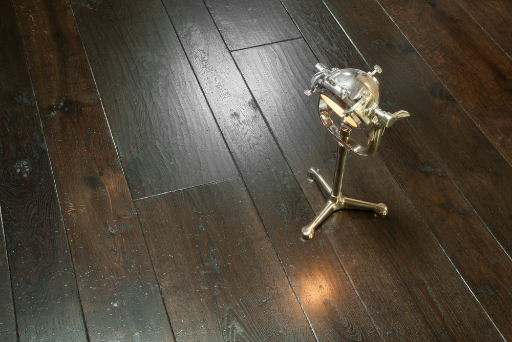 Black wooden flooring