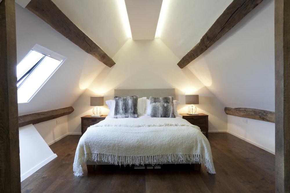 Wide board oak flooring