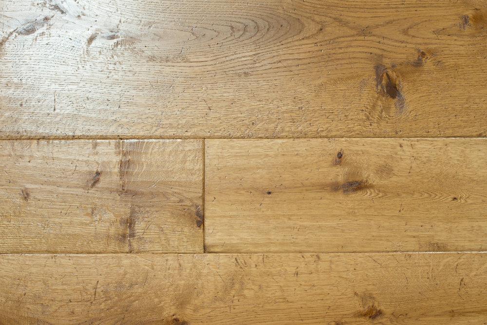 Weathered wood flooring