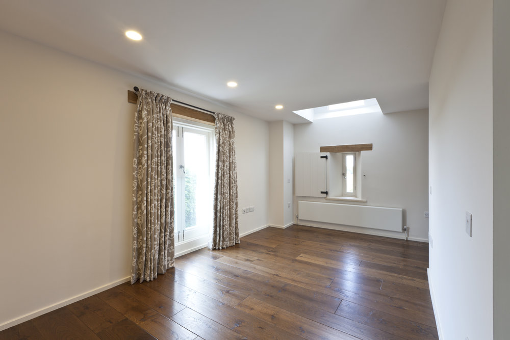 Modern oak flooring
